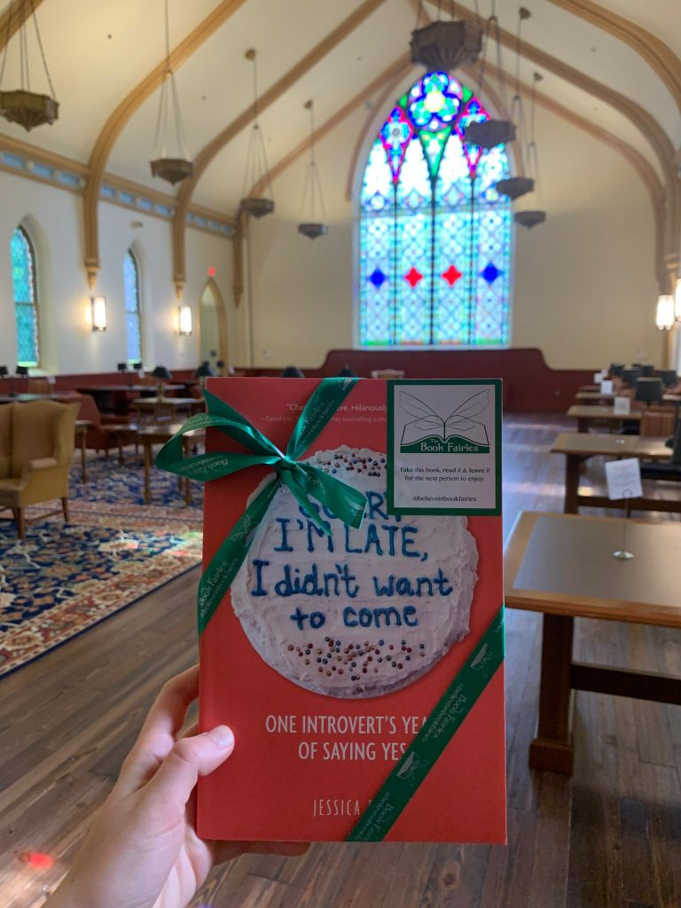 Book fairies in North America hide copies of Sorry I'm Late I Didn't Want To Come - Delaware University chapel