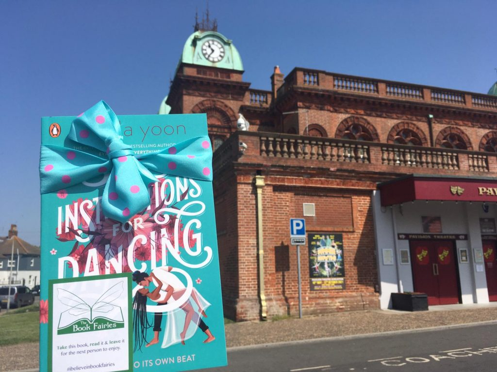 Nicola Yoon's new novel Instructions for Dancing hidden by The Book Fairies at the theatre in Norwich