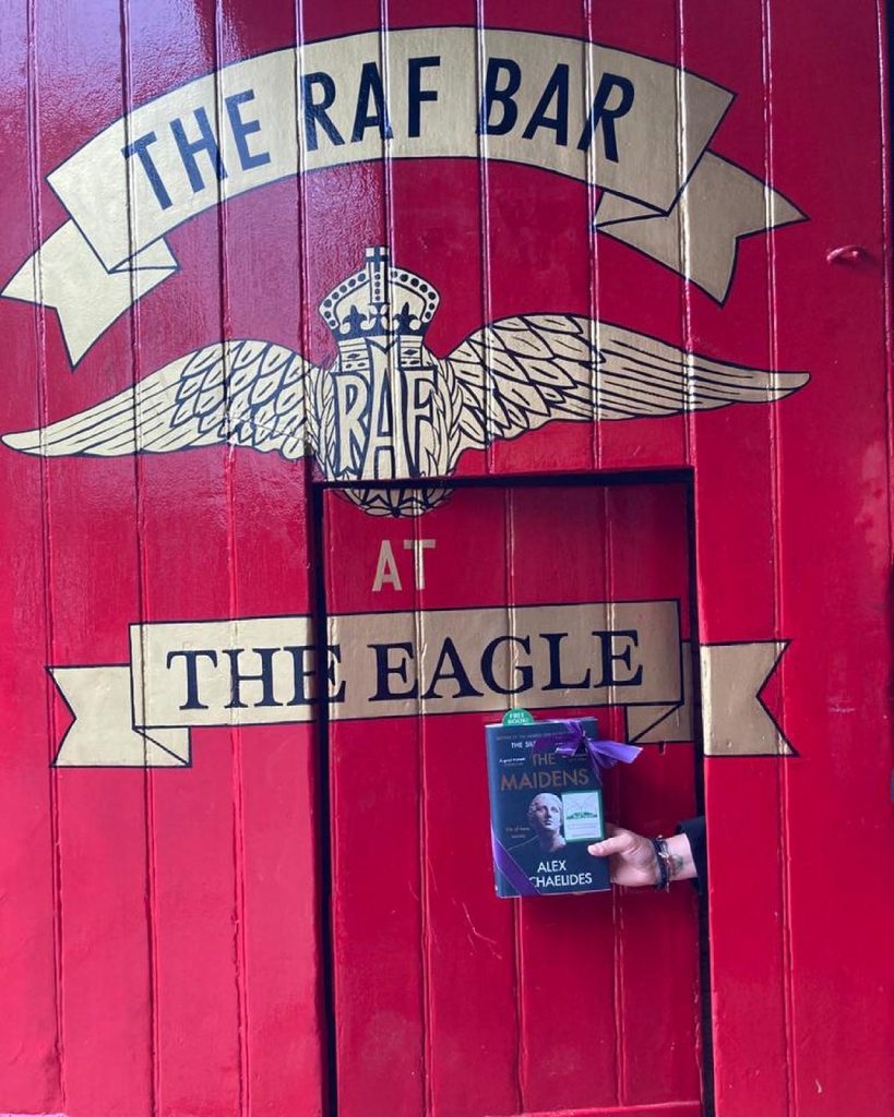 The Book Fairies work with Orion Books on The Maidens promotion at The RAF bar