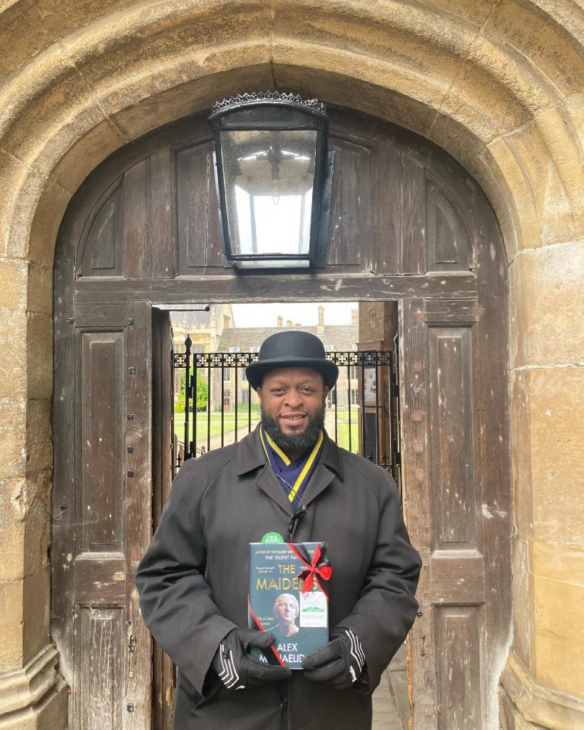 The Book Fairies work with Orion Books on The Maidens promotion at Christ College Cambridge