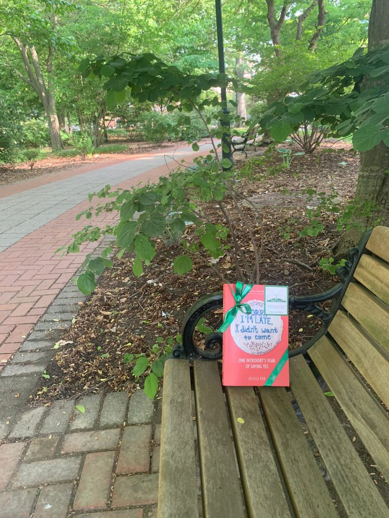 Book fairies in North America hide copies of Sorry I'm Late I Didn't Want To Come - left in a wood