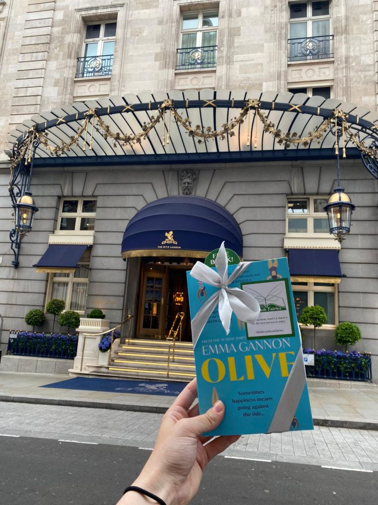 Olive by Emma Gannon hidden by UK book fairies at the Ritz London