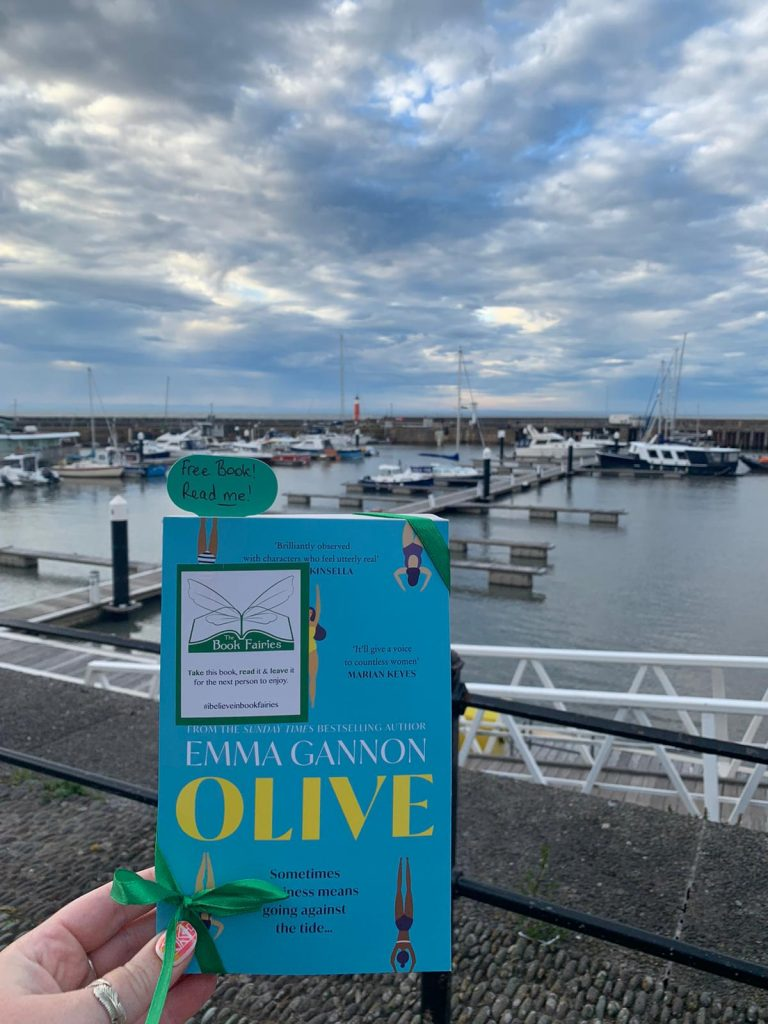 Olive by Emma Gannon hidden by UK book fairies in Somerset