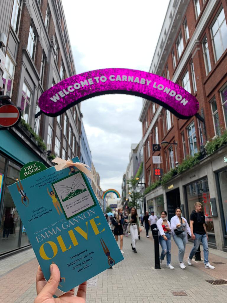 Olive by Emma Gannon hidden by UK book fairies at Carnaby Street
