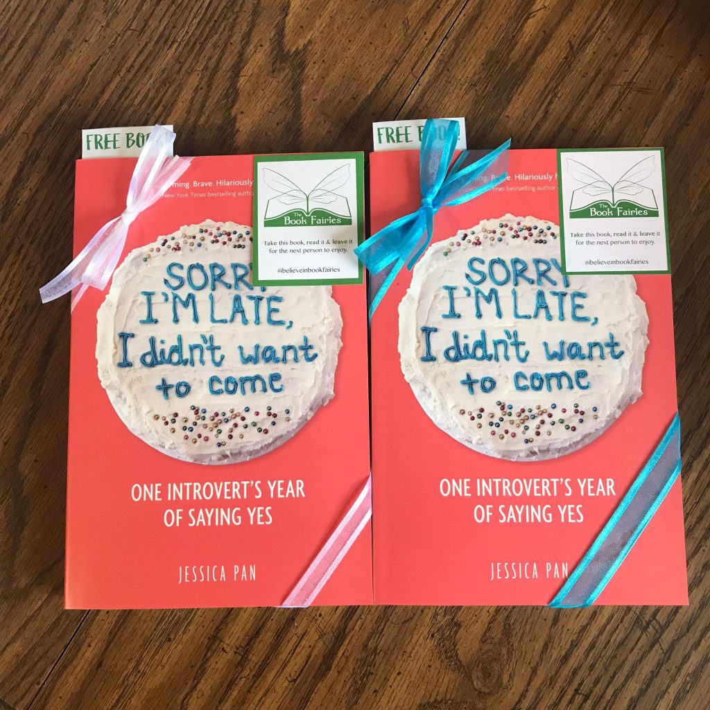 Book fairies in North America hide copies of Sorry I'm Late I Didn't Want To Come - prepping books