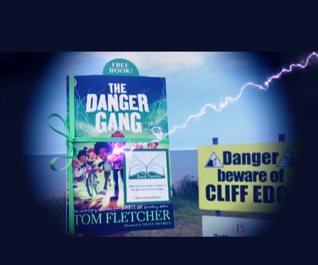 Book Fairies share copies of The Danger Gang by Tom Fletcher cliff edge