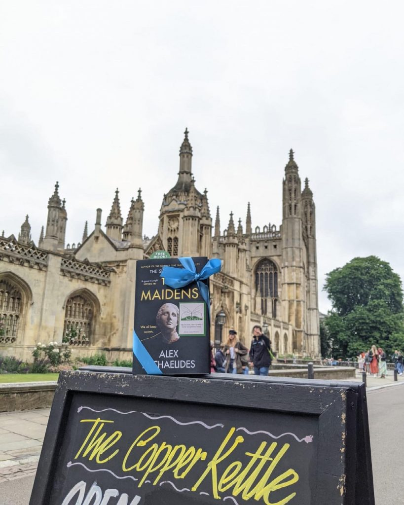 The Book Fairies work with Orion Books on The Maidens promotion in Cambridge