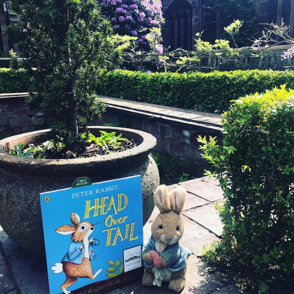 New Peter Rabbit adventure Head Over Tail shared by book fairies in Cheshire