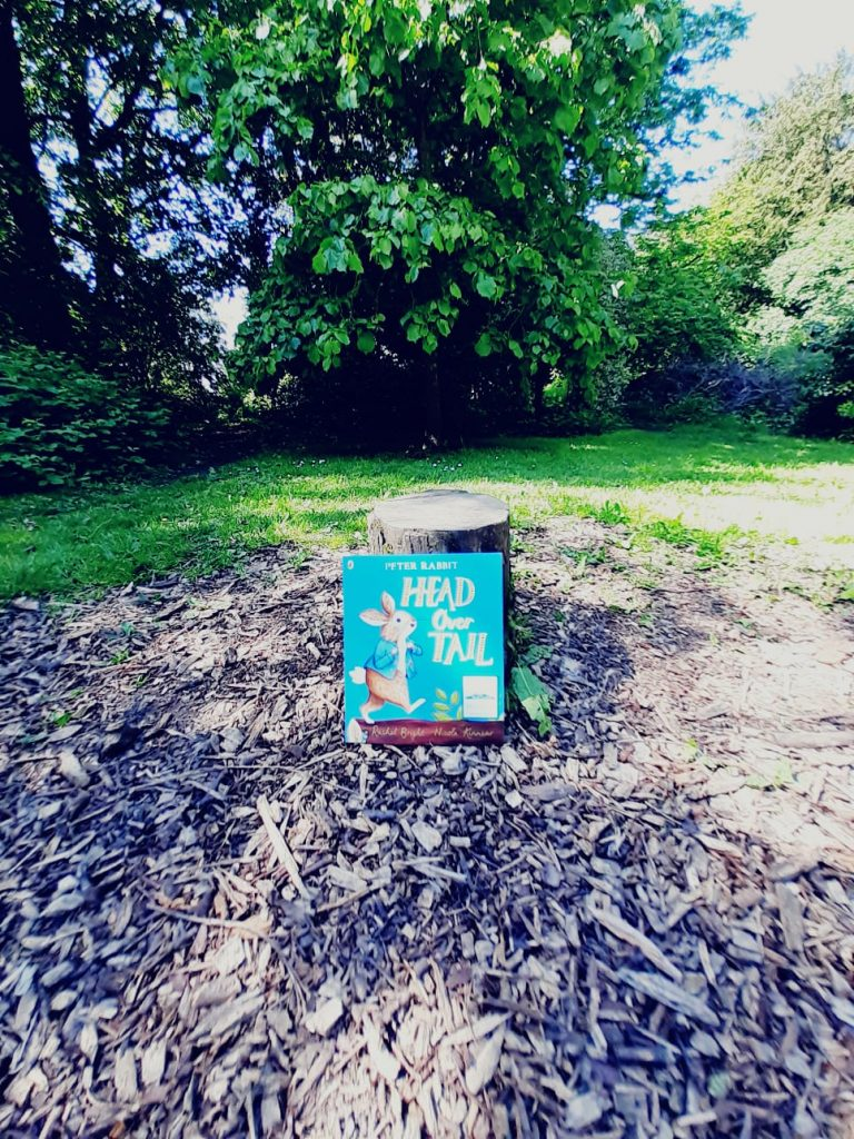 New Peter Rabbit adventure Head Over Tail shared by book fairies in a London park