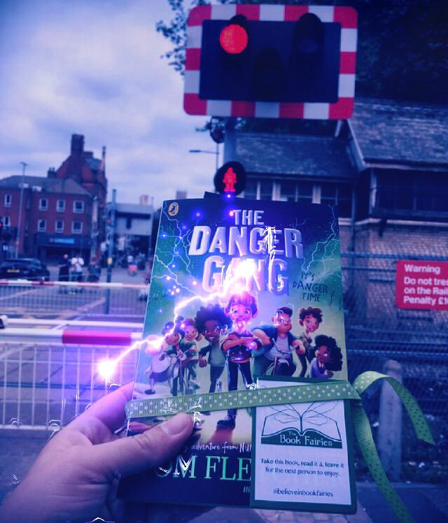 Book Fairies share copies of The Danger Gang by Tom Fletcher level crossing