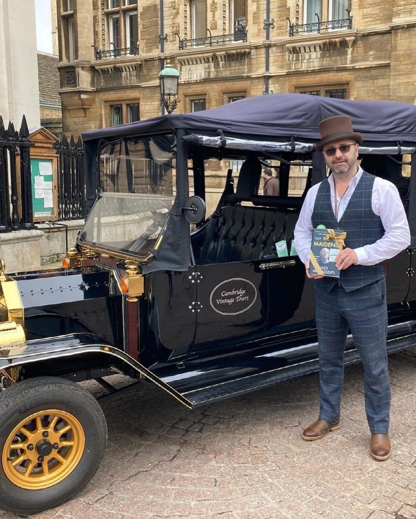 The Book Fairies work with Orion Books on The Maidens promotion at a vintage car