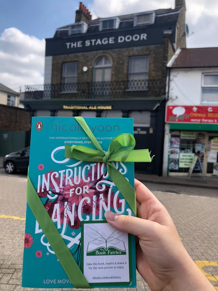 Nicola Yoon's new novel Instructions for Dancing hidden by The Book Fairies at the Stage Door pub