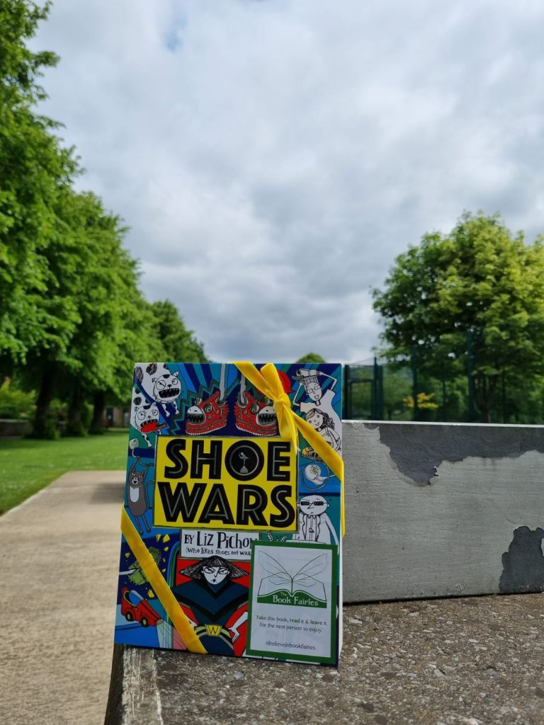 The Book Fairies share Scholastic children's book Shoe Wars in Derby