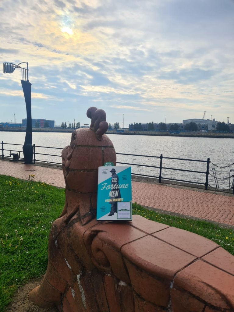 The Fortune Men by Nadifa Mohamed hidden by The Book Fairies in Cardiff Docks
