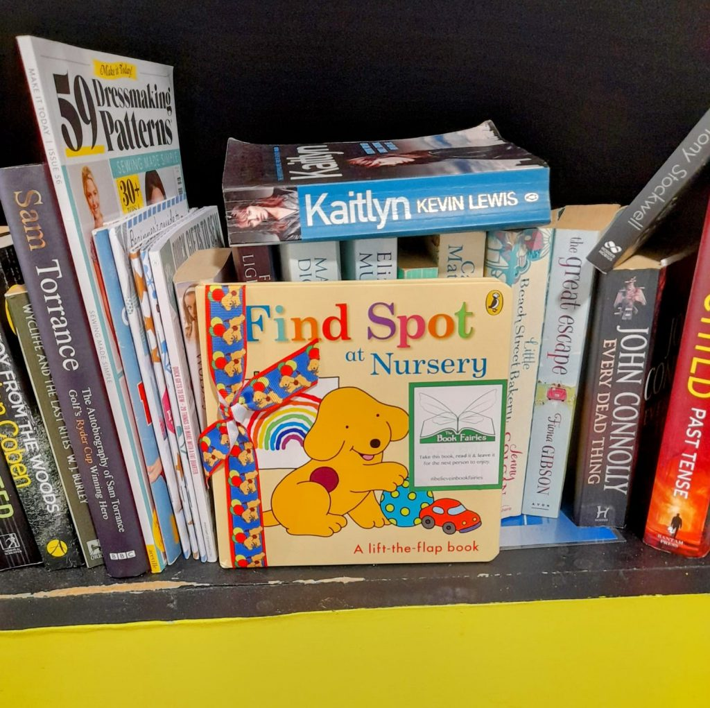 Book fairies hide Find Spot At Nursery at amazing places around the UK - in a little free library