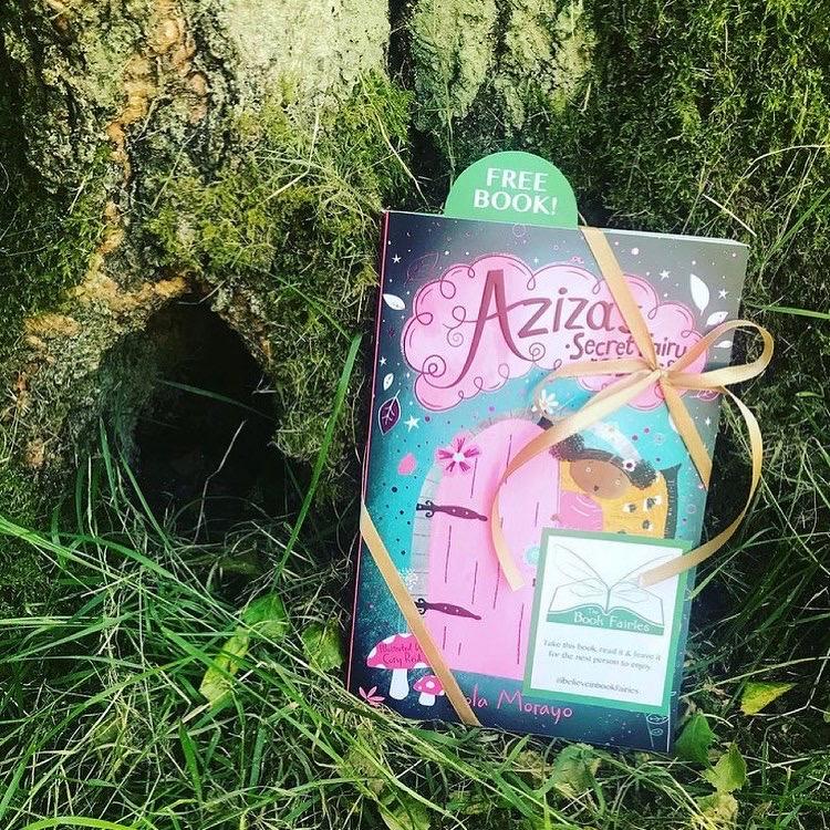 Aziza and the Secret Fairy Door hidden by Book Fairies a secret door