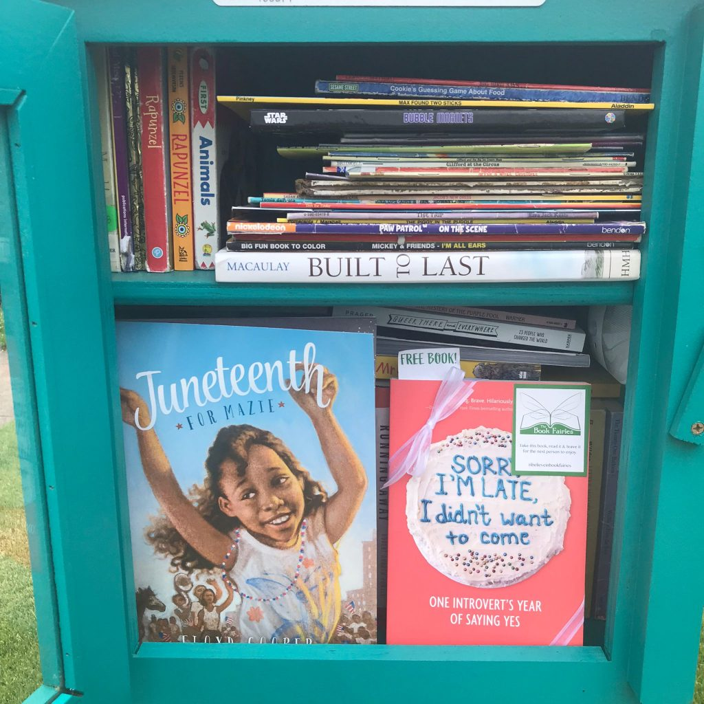 Book fairies in North America hide copies of Sorry I'm Late I Didn't Want To Come - new york little free library