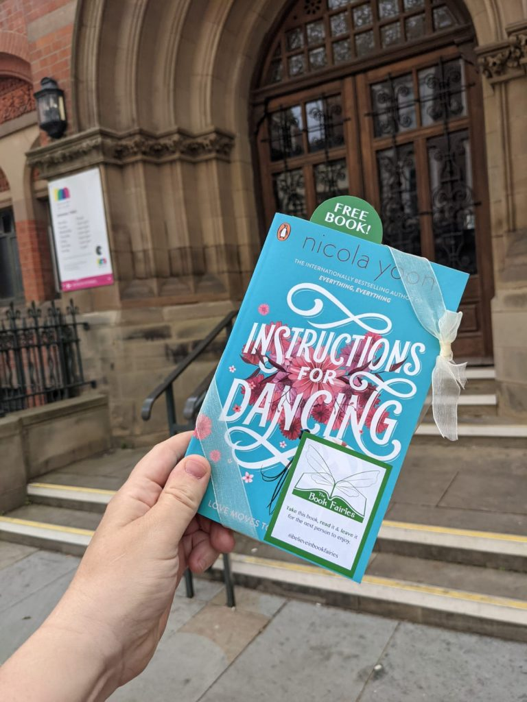 Nicola Yoon's new novel Instructions for Dancing hidden by The Book Fairies - at a museum