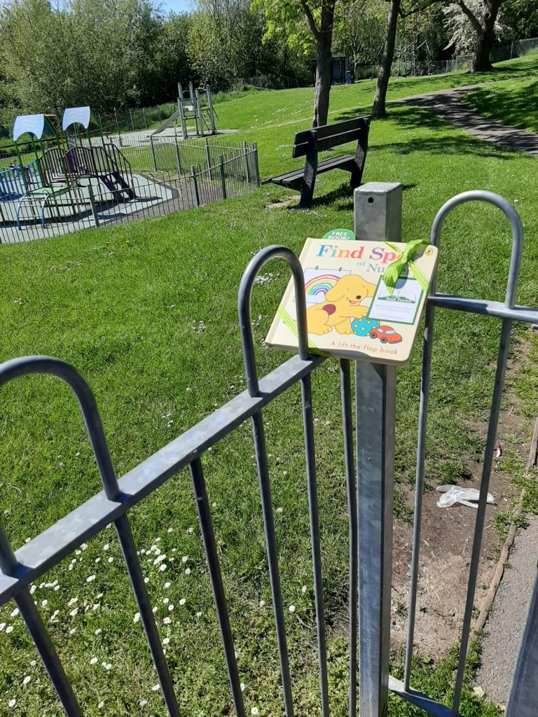 Book fairies hide Find Spot At Nursery at amazing places around the UK - at a play park