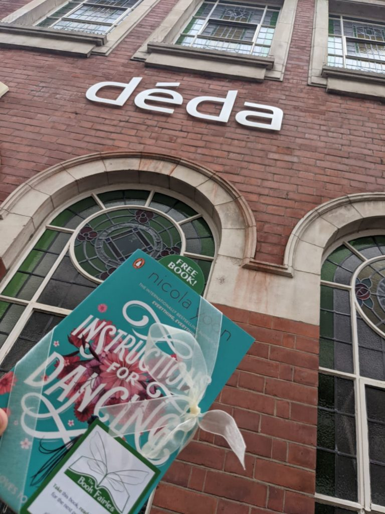 Nicola Yoon's new novel Instructions for Dancing hidden by The Book Fairies at Deda Dance School