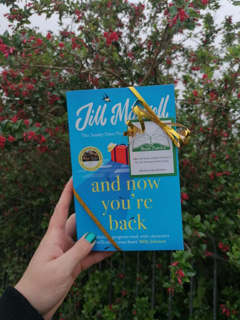 The Book Fairies and Jill Mansell share copies of And Now You're Back in a bloom