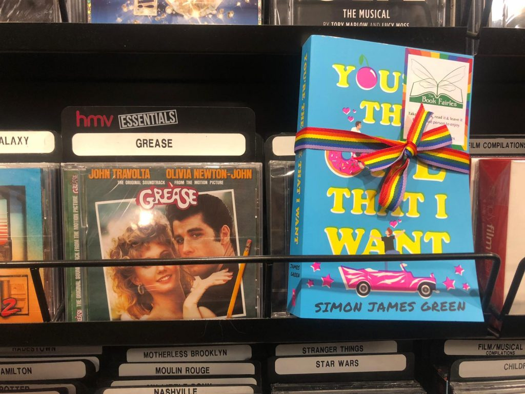 Book Fairies share Simon James Green's novel You're The One That I Want as part of Pride in HMV