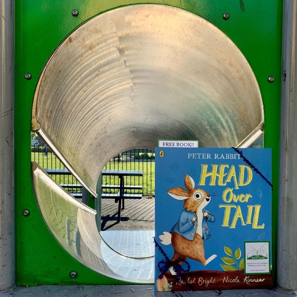 New Peter Rabbit adventure Head Over Tail shared by book fairies in south shields