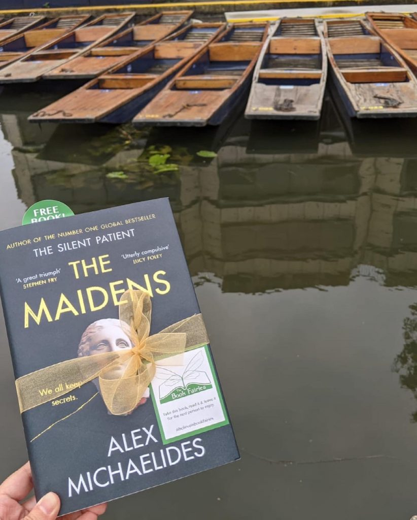 The Book Fairies work with Orion Books on The Maidens promotion at Cambridge punts