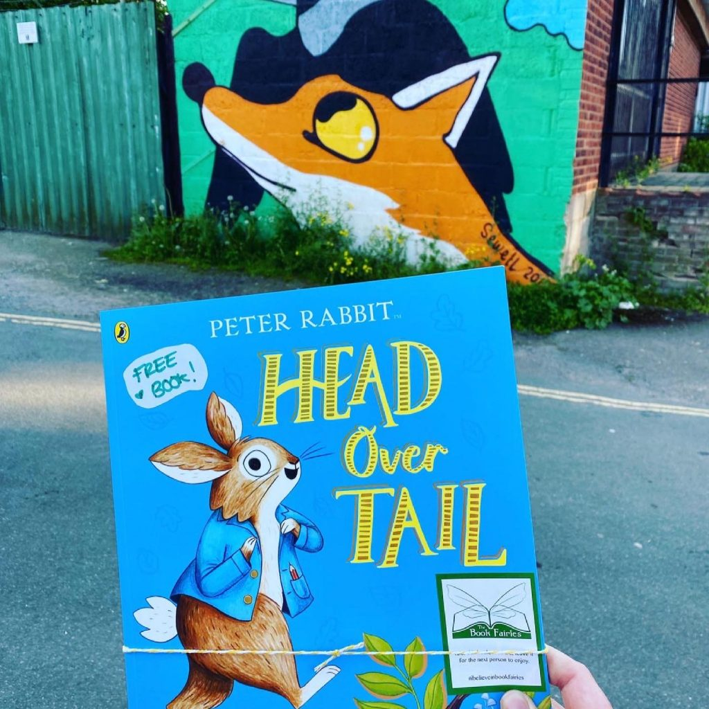 New Peter Rabbit adventure Head Over Tail shared by book fairies in Shropshire