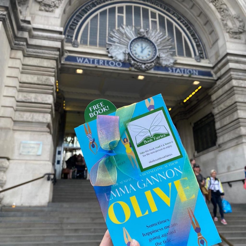 Olive by Emma Gannon hidden by UK book fairies at Waterloo London