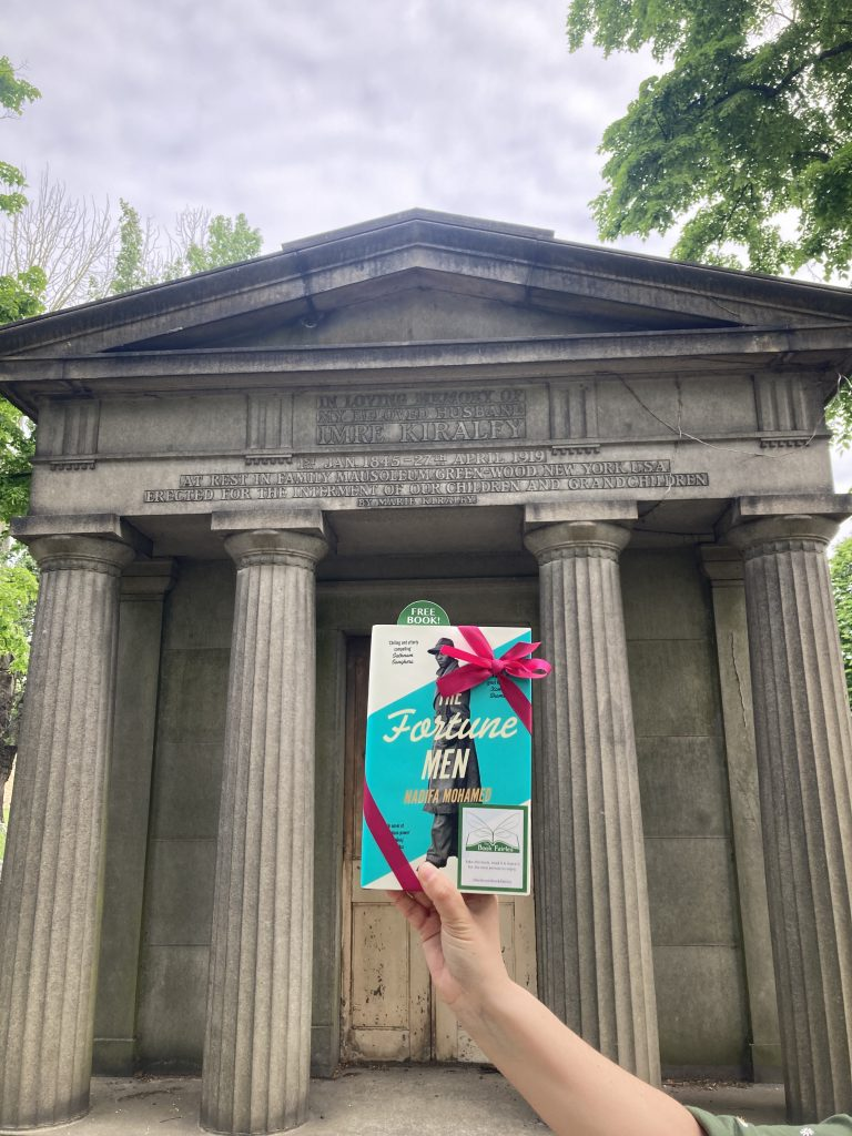 The Fortune Men by Nadifa Mohamed hidden by The Book Fairies in Kensal Green Cemetery