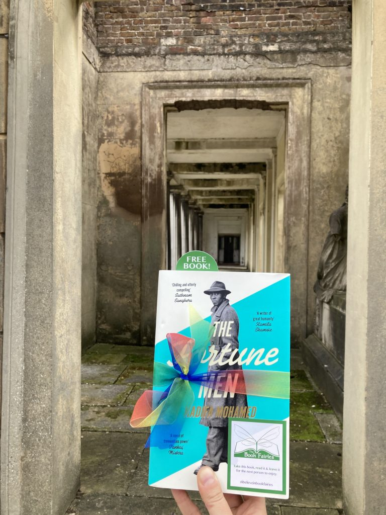 The Fortune Men by Nadifa Mohamed hidden by The Book Fairies in London cemetery