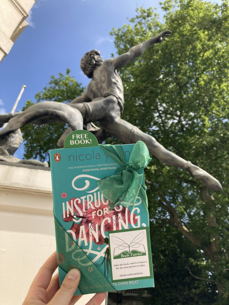 Nicola Yoon's new novel Instructions for Dancing hidden by The Book Fairies in London