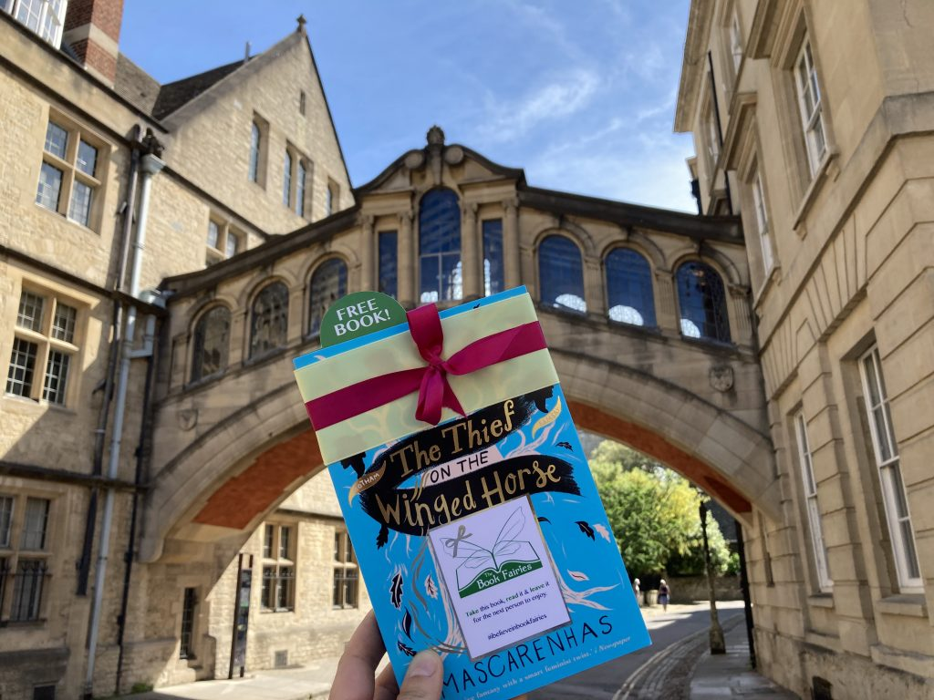 Book Fairies hide The Thief on the Winged Horse by Kate Mascarenhas at the Bridge of Sighs Oxford