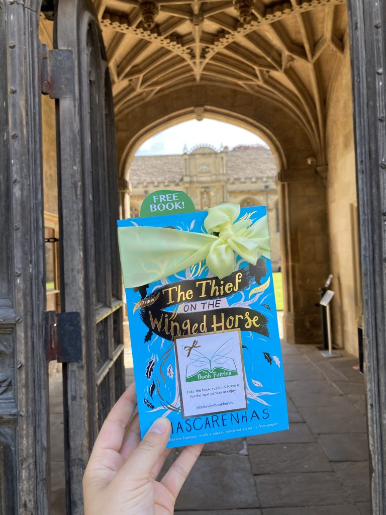 Book Fairies hide The Thief on the Winged Horse by Kate Mascarenhas in Oxford UK