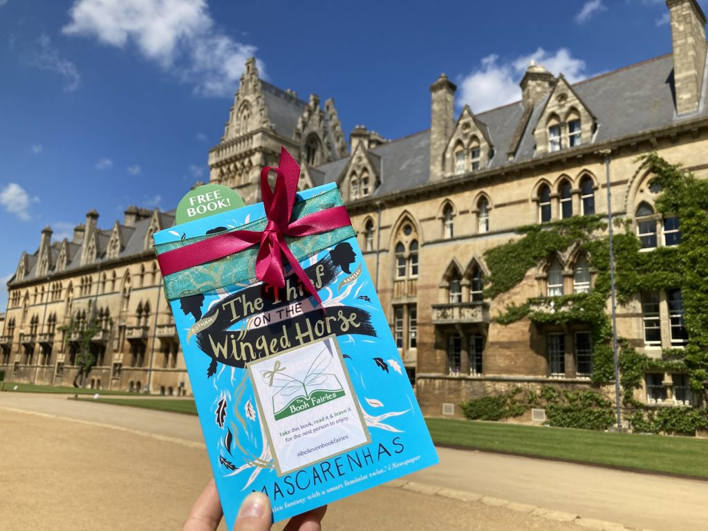 Book Fairies hide The Thief on the Winged Horse by Kate Mascarenhas at Oxford colleges