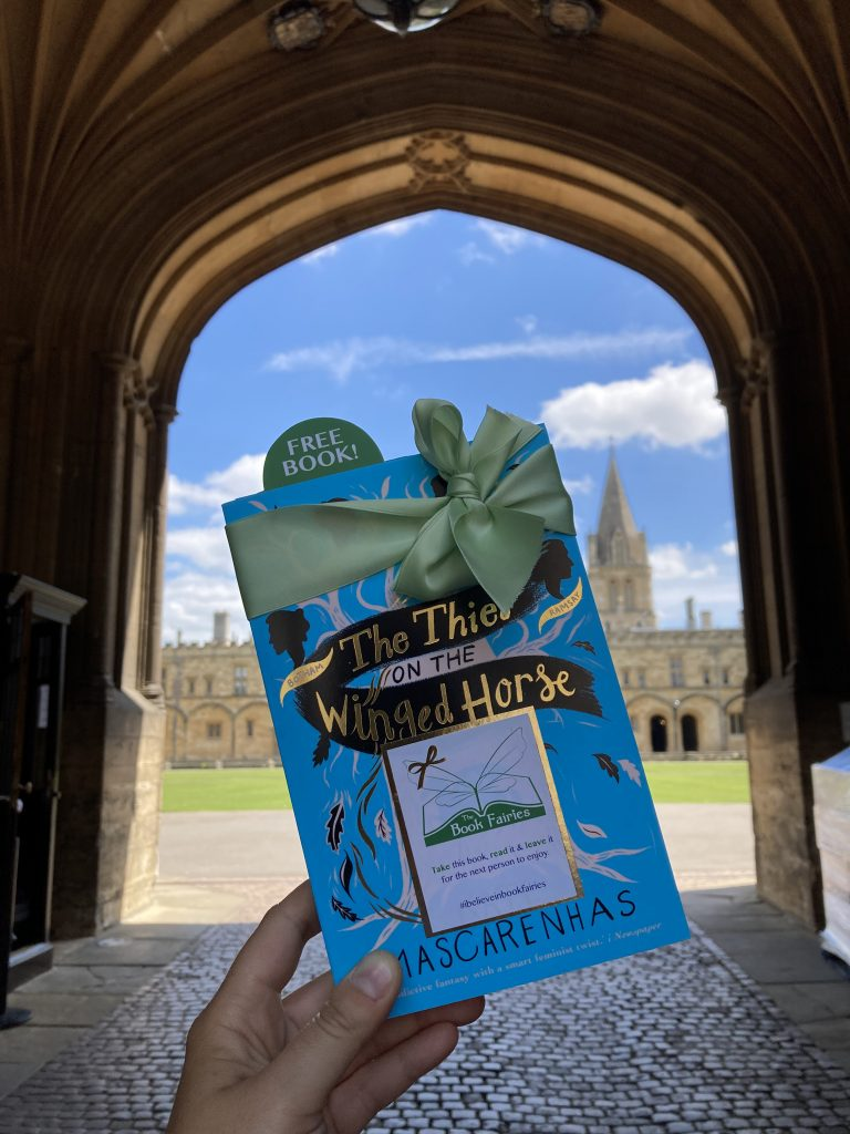 Book Fairies hide The Thief on the Winged Horse by Kate Mascarenhas - at Christ Church College Oxford