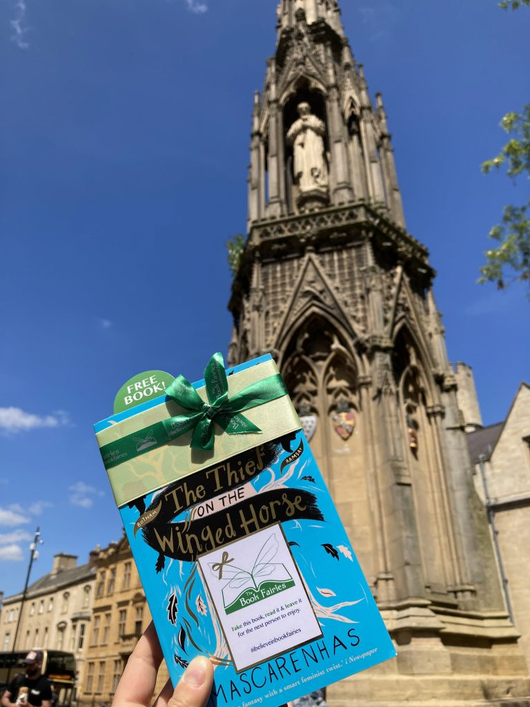 Book Fairies hide The Thief on the Winged Horse by Kate Mascarenhas in Oxford