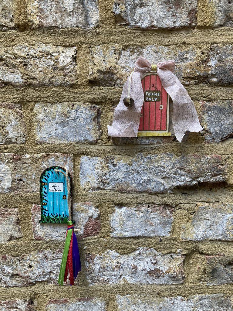 Aziza and the Secret Fairy Door hidden by Book Fairies - fairy doors