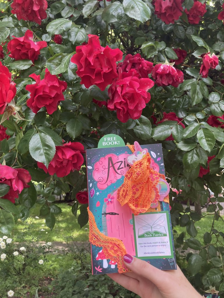 Aziza and the Secret Fairy Door hidden by Book Fairies in central London
