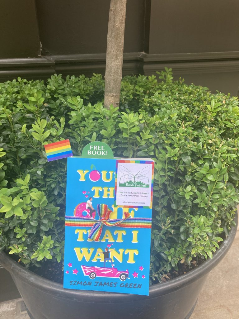 Book Fairies share Simon James Green's novel You're The One That I Want as part of Pride in Seven Dials London