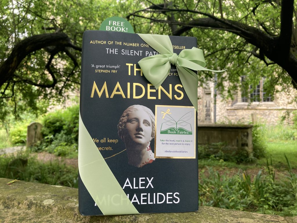 The Book Fairies work with Orion Books on The Maidens promotion in a Cambridge churchyard