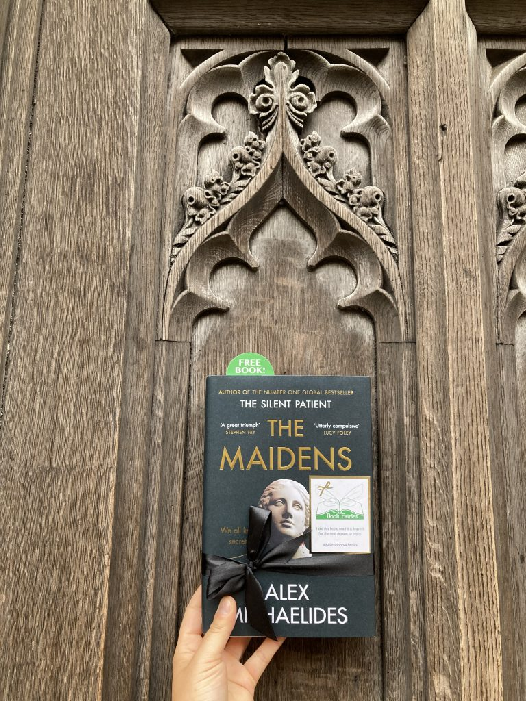 The Book Fairies work with Orion Books on The Maidens promotion at a Cambridge college