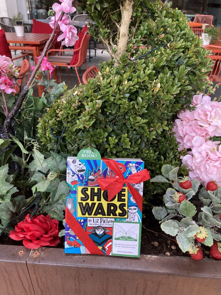 The Book Fairies share Scholastic children's book Shoe Wars in London