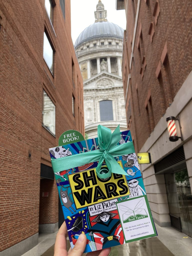 The Book Fairies share Scholastic children's book Shoe Wars at St Pauls