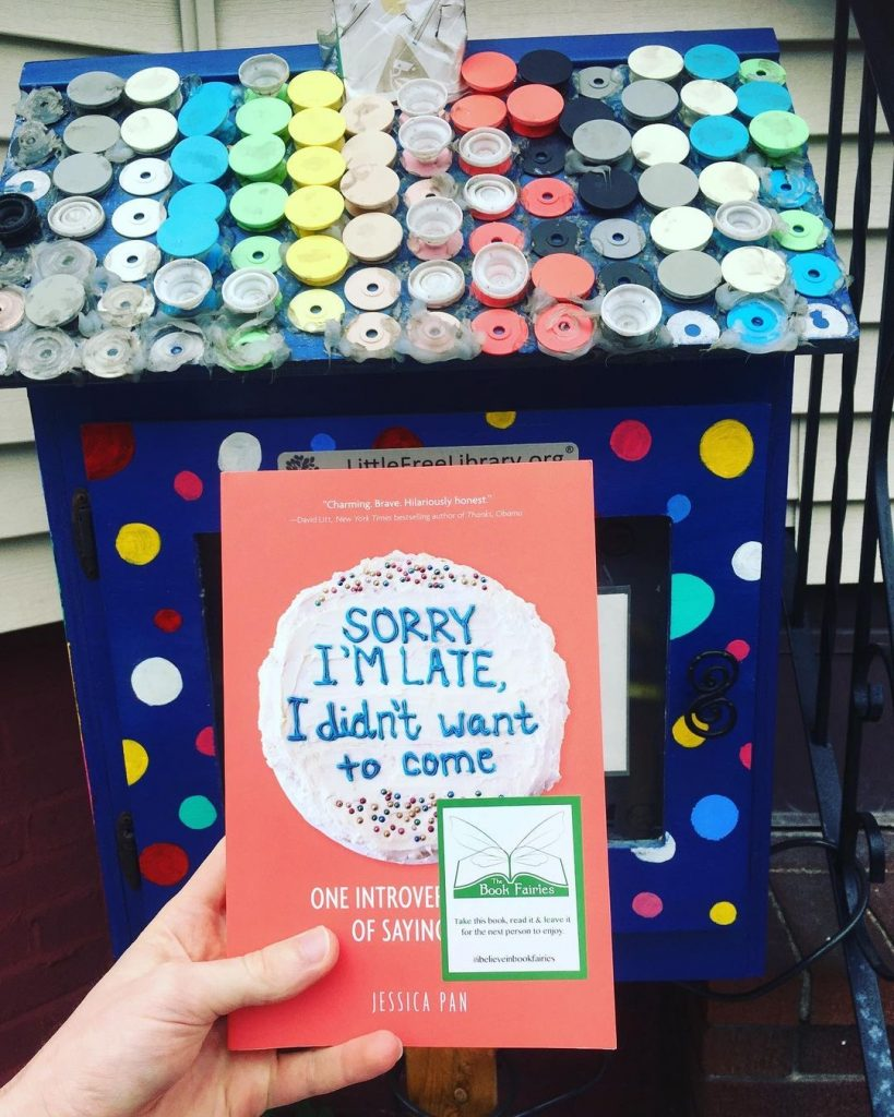 Book fairies in North America hide copies of Sorry I'm Late I Didn't Want To Come - Boston little free library