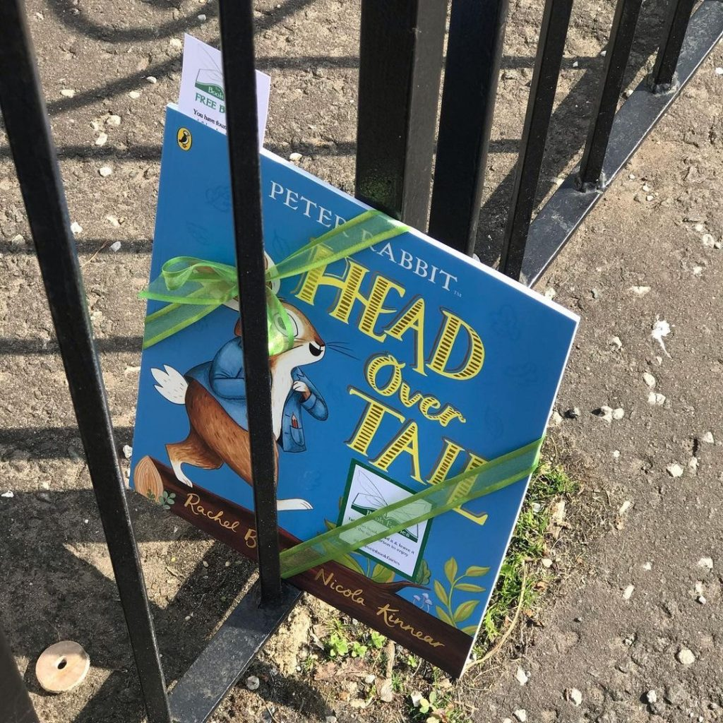 New Peter Rabbit adventure Head Over Tail shared by book fairies in West Lothian