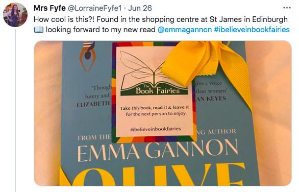 Olive by Emma Gannon hidden by UK book fairies book finder edinburgh