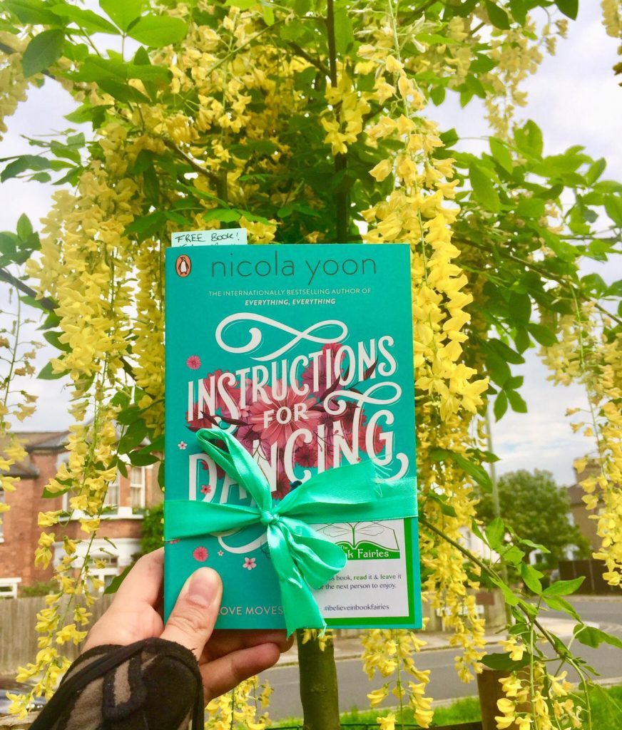 Nicola Yoon's new novel Instructions for Dancing hidden by The Book Fairies - in London uk