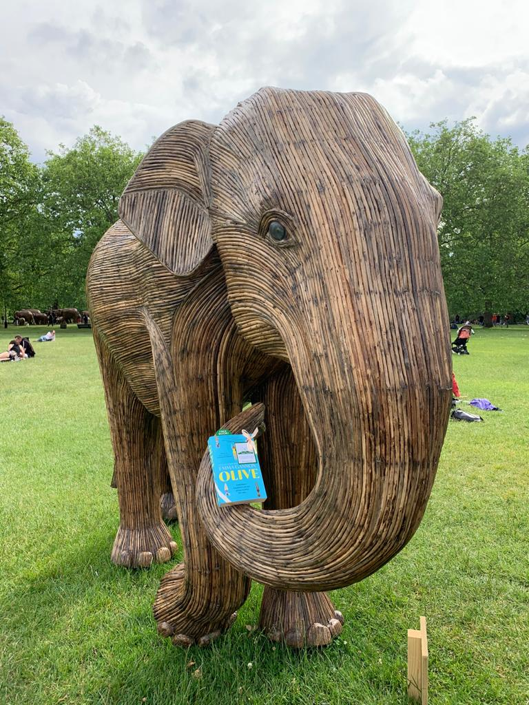 Olive by Emma Gannon hidden by UK book fairies in Green Park London